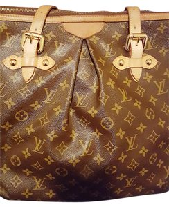 Louis Vuitton Gm Palermo Monogram Tote in Brown