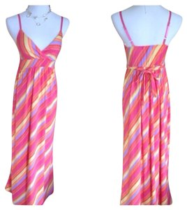 Pink Multi Color Maxi Dress by Derek Heart
