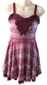 Free People short dress Red Empire Waist on Tradesy