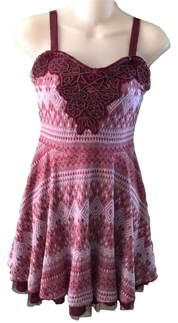Preload https://item1.tradesy.com/images/free-people-maroon-women-s-empire-waist-above-knee-short-casual-dress-size-12-l-10568530-0-1.jpg?width=400&height=650