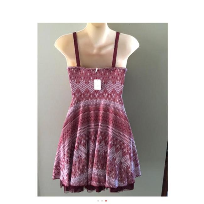 Free People short dress Maroon Red Empire Waist on Tradesy