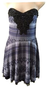 Free People short dress Black Empire Waist on Tradesy