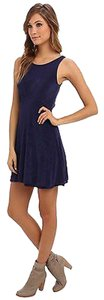Free People short dress Navy Lace Open Back on Tradesy