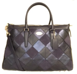 Coach Leather New Nwt Satchel in Multi Blue