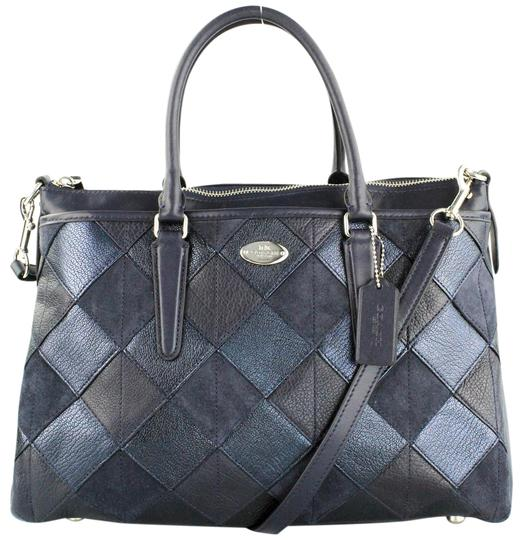 Preload https://img-static.tradesy.com/item/10568596/coach-morgan-patchwork-blue-leather-satchel-0-4-540-540.jpg