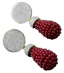 AD Maroon Multi Bead Drop
