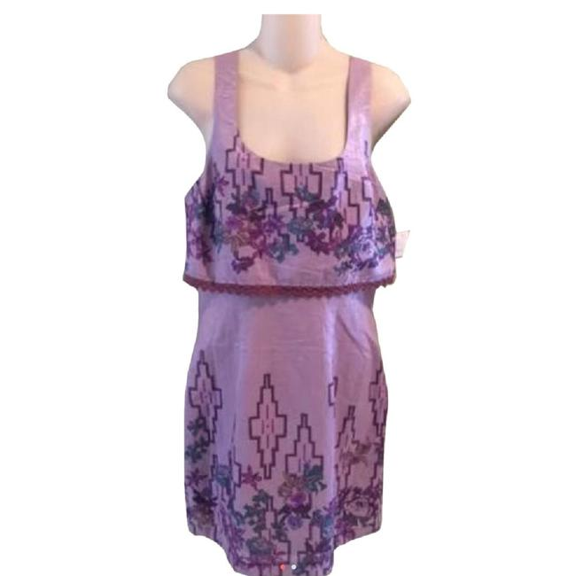 Free People short dress Purple Aztec Tribal Floral Lace on Tradesy