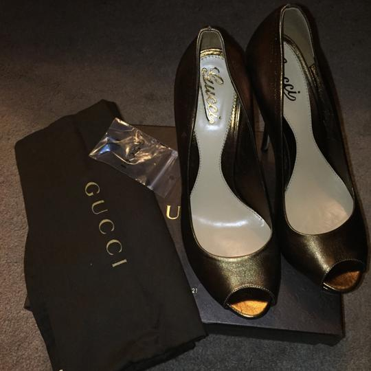 Gucci Bronze Platforms