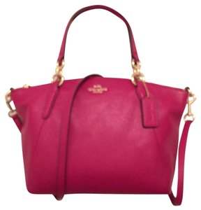 Coach Leather New Cross Body Satchel in Cranberry (Pink)