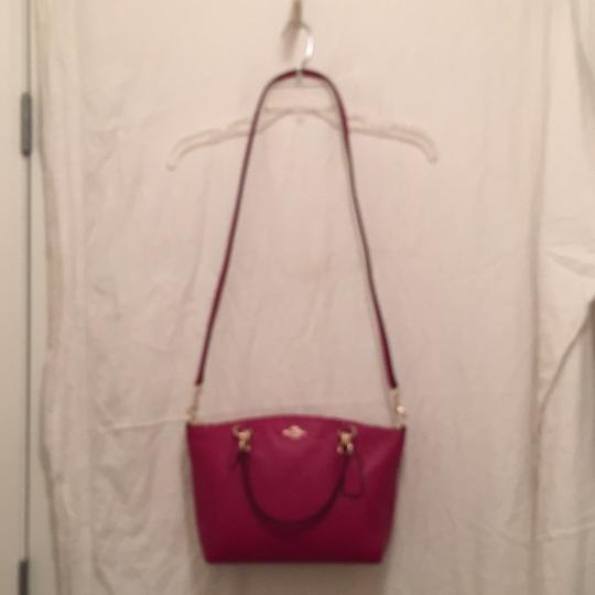 Coach Purse Handbag Cross Body Shoulder Tote Satchel in Pink Gold