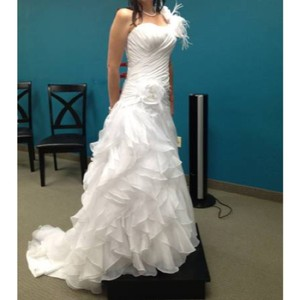 Alfred Angelo White Ariel Style 210 Formal Wedding Dress Size 6 (S)