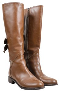 Valentino Ascot Boot Tall 39 Bow Brown Boots