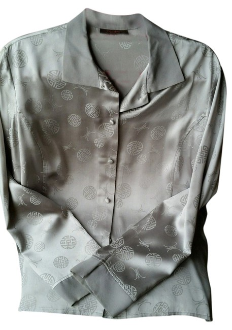 Preload https://item3.tradesy.com/images/grey-silk-blouse-button-down-top-size-10-m-10569472-0-1.jpg?width=400&height=650