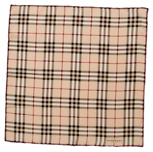 Burberry Beige, black, red, multicolor Burberry Nova check silk square scarf New