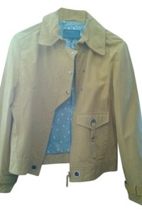 Escada yellow leather Leather Jacket
