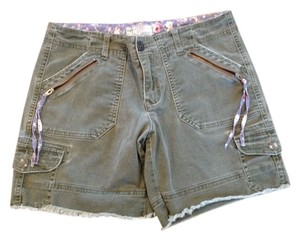 Free People Denim Cut Off Shorts Olive