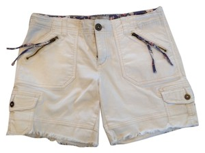 Free People Denim Cut Off Shorts Cream