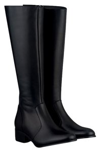 Duo Boots Narrow Shaft Narrow Leather Skinny black Boots