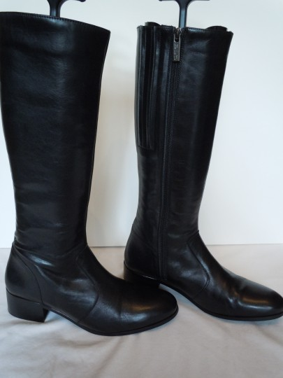Duo Boots Narrow Shaft Narrow Leather Skinny black Boots Image 2