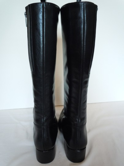 Duo Boots Narrow Shaft Narrow Leather Skinny black Boots Image 3