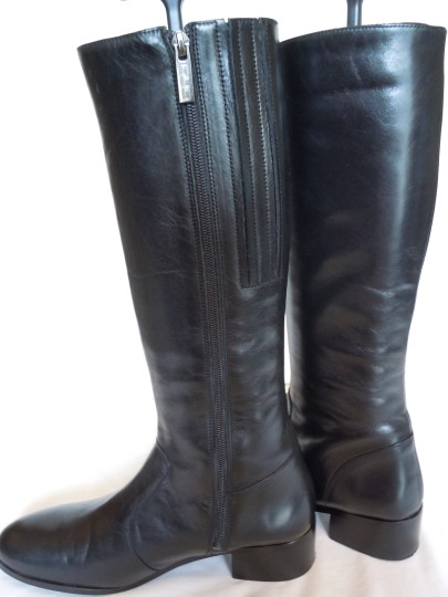 Duo Boots Narrow Shaft Narrow Leather Skinny black Boots Image 4