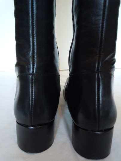 Ted&Muffy Narrow Shaft Narrow Leather Skinny black Boots