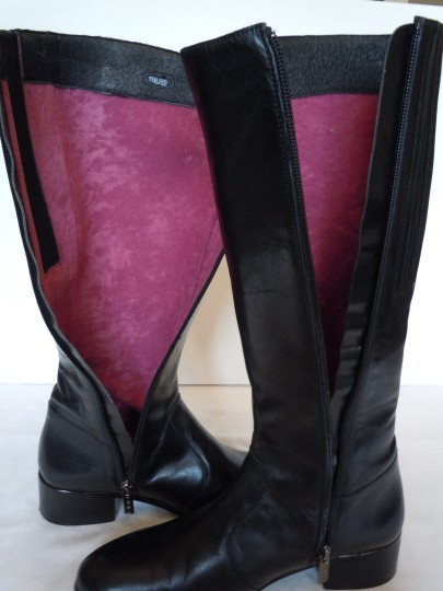 Duo Boots Narrow Shaft Narrow Leather Skinny black Boots Image 8