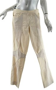 Catherine Malandrino Cotton Blend Straight Pants Beige/Stone