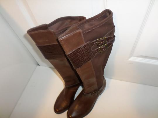 Cole Haan Tall Leather Tall New Italian Brown Boots Image 4