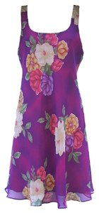 Hampton Nites short dress Purple floral Floral Knee Length on Tradesy