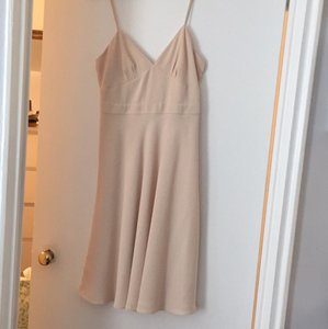 J.Crew Champagne Matte Crepe Aubrey Casual Bridesmaid/Mob Dress Size 2 (XS)