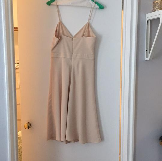 J.Crew Champagne Matte Crepe Aubrey Casual Bridesmaid/Mob Dress Size 2 (XS) Image 1