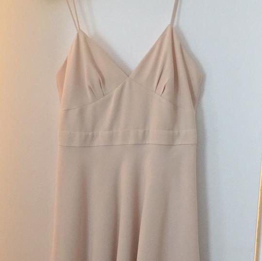 J.Crew Champagne Matte Crepe Aubrey Casual Bridesmaid/Mob Dress Size 2 (XS) Image 3