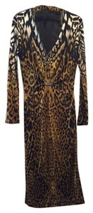 Roberto Cavalli Silk Satin Sheath Dress