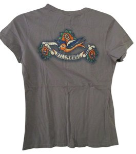 Billabong Large Love Birds Fitted T Shirt Grey
