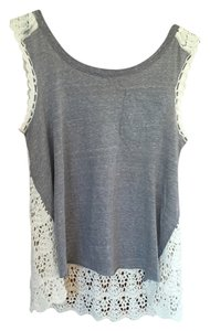 Free People Top Grey and White
