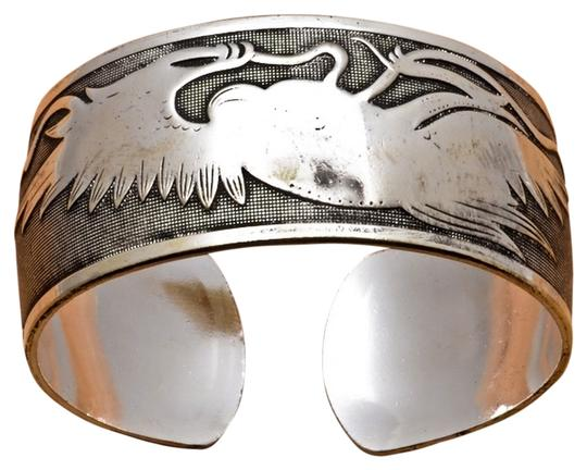 "Other 7 2/3"" TIBETAN SILVER TOTOM BANGLE CUFF BRACELET"