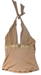 bebe Tan, beige Halter Top
