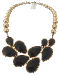 White House | Black Market Statement Necklace Black and Gold