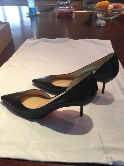 Christian Louboutin D'orsay Sexy Leather Black Pumps