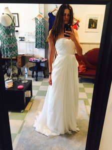 Ivy & Aster Ivory Silk Lumiere Feminine Wedding Dress Size 6 (S)