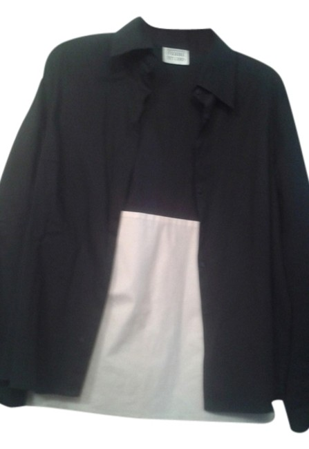 Preload https://item4.tradesy.com/images/gianfranco-ferre-black-with-white-48-and-blouse-button-down-top-size-12-l-10572268-0-1.jpg?width=400&height=650