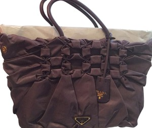 Prada Satchel in Dark Purple