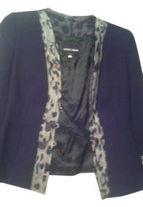 Giorgio Armani black with leopard trim Jacket