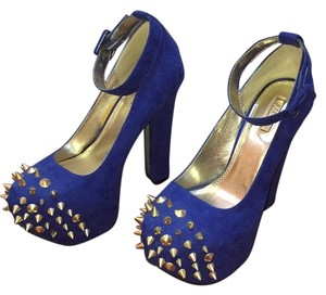 Wild Pair Blue Platforms