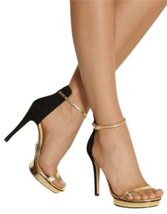 Michael Kors GOLD CRACKED METALIC Platforms
