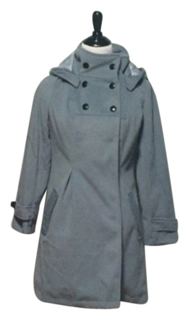 Preload https://item4.tradesy.com/images/gray-trench-pea-coat-size-12-l-10573513-0-1.jpg?width=400&height=650