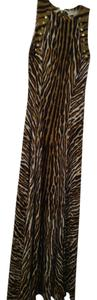 Chocolate Zebra Maxi Dress by Michael Kors