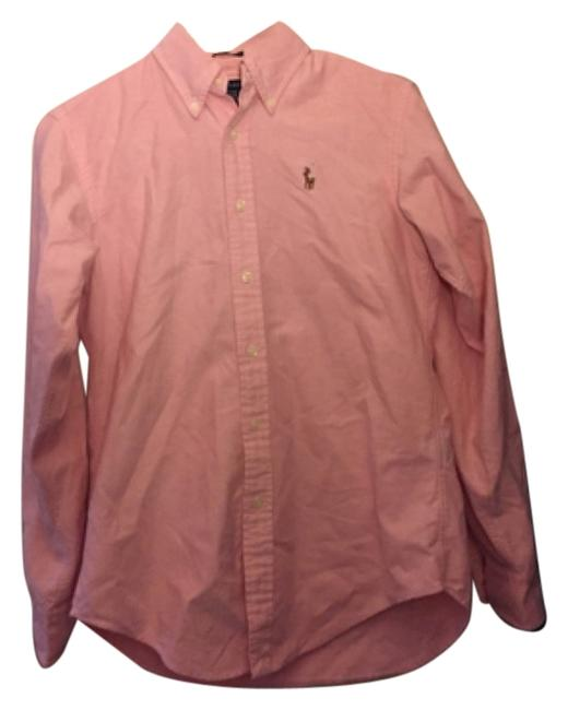 Preload https://img-static.tradesy.com/item/10573681/ralph-lauren-pink-polo-button-down-top-size-2-xs-0-1-650-650.jpg
