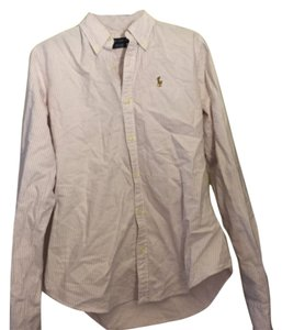 Ralph Lauren Button Down Shirt Purple and white